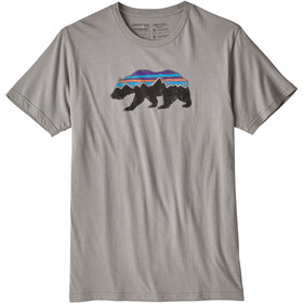 Patagonia Fitz Roy Bear Organic T-shirt Herr feather grey